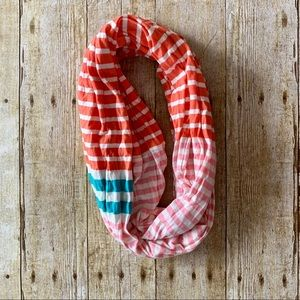J. Jill pink and blue infinity scarf